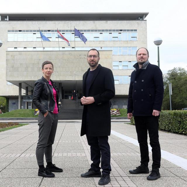 Danijela Dolenec, Tomislav Tomašević i Luka Korlaet<br />