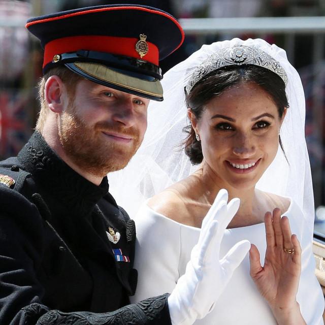 Princ Harry i Meghan na dan vjenčanja 2018.