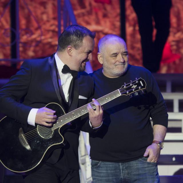 Ivan Zoranović i Đorđe Balašević na konceru u Spaladium Areni 2018.<br />