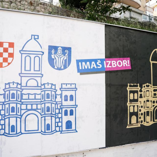 Šokatni plakati u Splitu