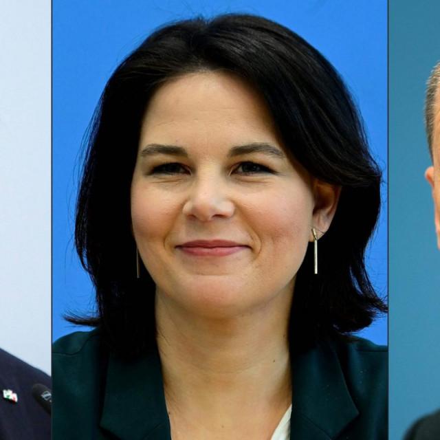 Armin Laschet, Annalena Baerbock i Olaf Scholz,vodeći kandidati za kancelarski položaj na izborima 26. rujna