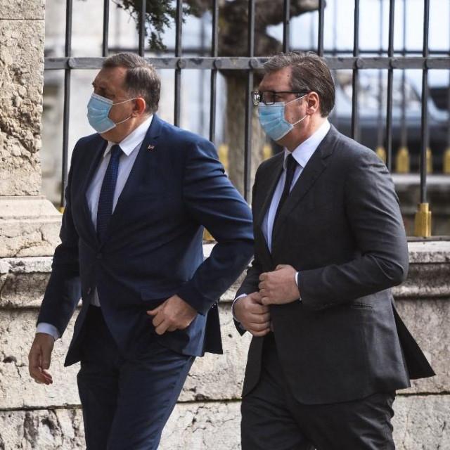 Milorad Dodik iAleksandar Vučić
