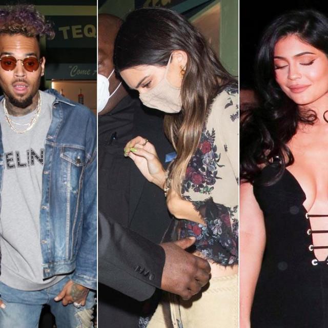 Winnie Harlow, Chris Brown,Kendall Jenner iKylie Jenner