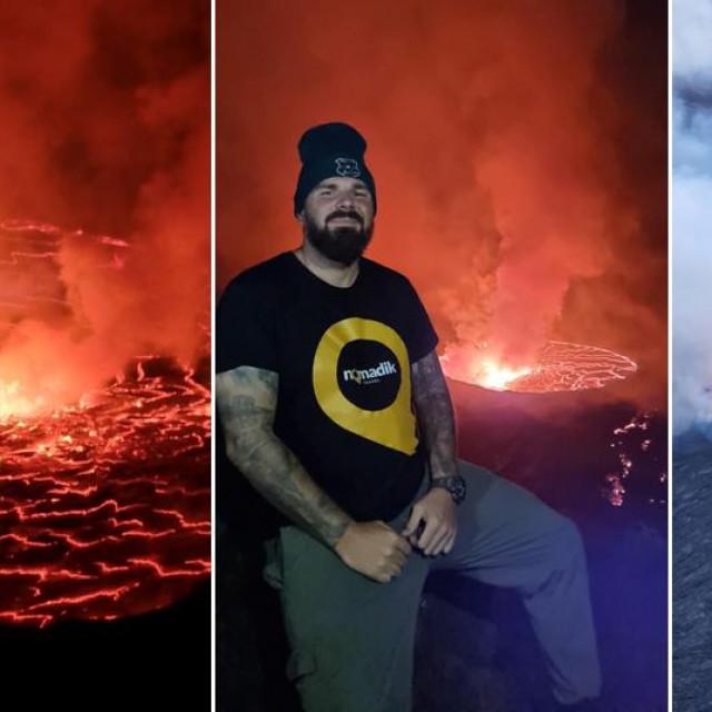 Kristijan Iličić na vulkanu Nyiragongo