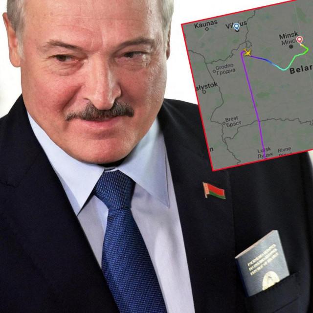 Aleksandar Lukašenko i izmijenjena ruta Ryainairovog zrakoplova s Flightradara