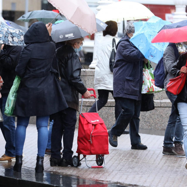 Kišno vrijeme u Zagrebu