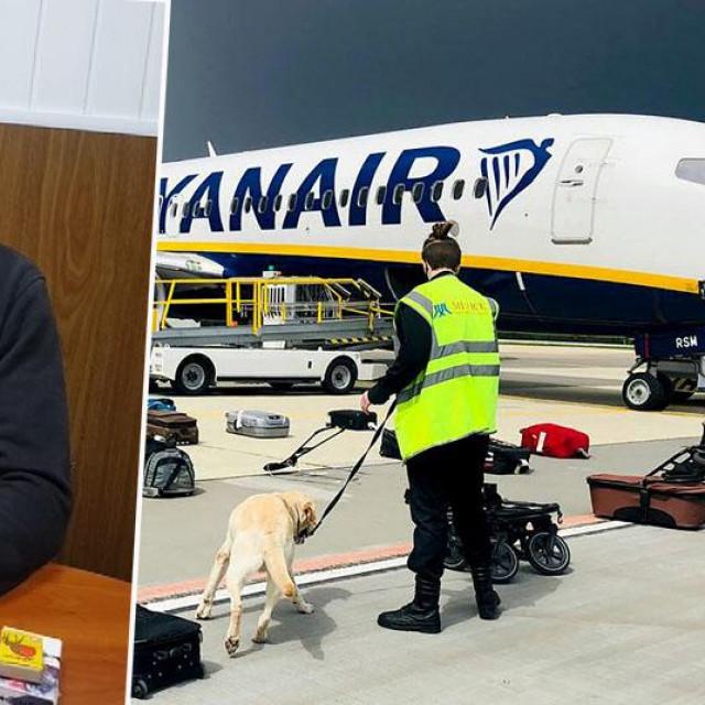 Roman Protaševič i avion Ryanaira koji je prizemljen u Minsku