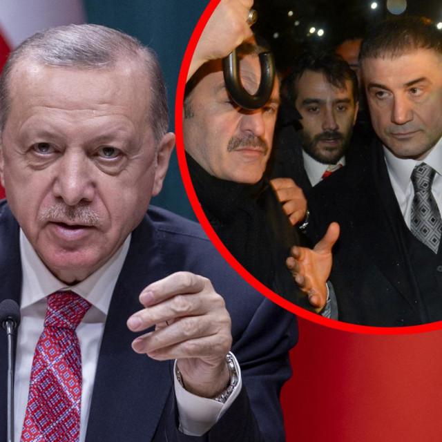 Recep Tayyip Erdogan iSedat Peker (u krugu)