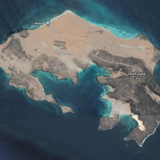 Otok Perim u tjesnacu Bab-el-Mandeb