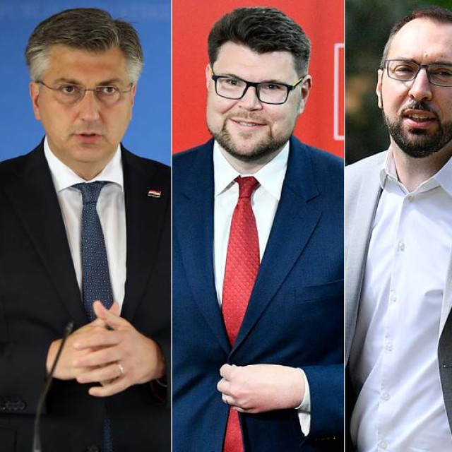Andrej Plenković, Peđa Grbin, Tomislav Tomašević, Miroslav Škoro i Zoran Milanović