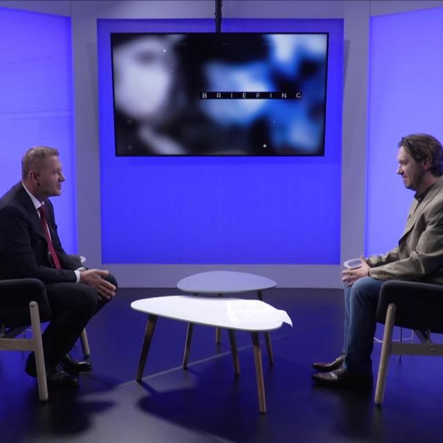 Krešo Beljak u emisiji 'Briefing' Borisa Orešića