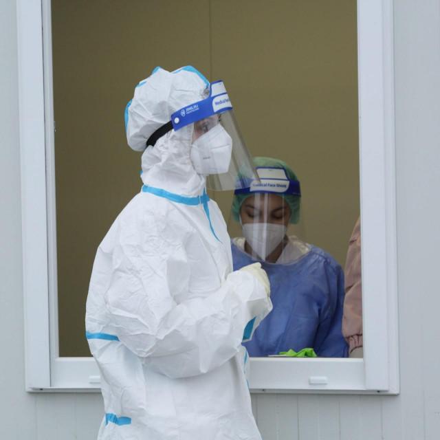 Ilustracija, testiranje na koronavirus