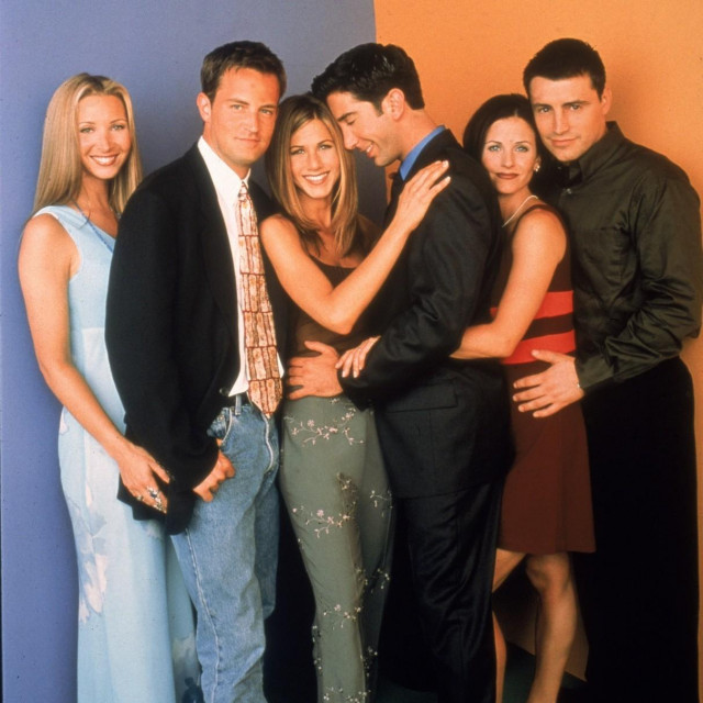 Lisa Kudrow, Jennifer Aniston, Matt LeBlanc, Matthew Perry, Courteney Cox i David Schwimmer