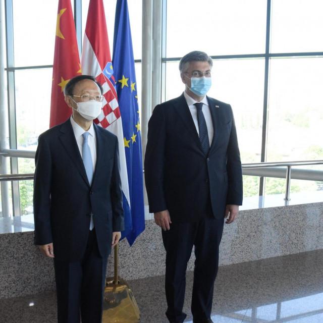 Yang Jiechi i Andrej Plenković