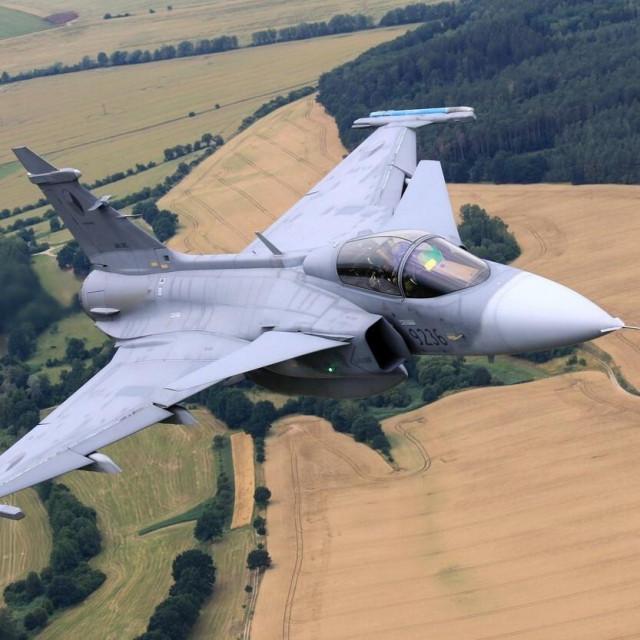 Ilustracija, Gripen zračnih snaga Češke