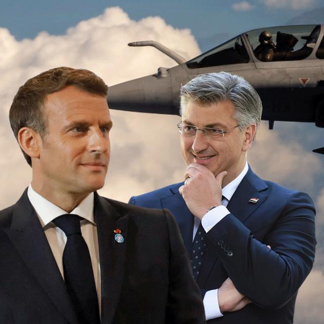 Emmanuel Macron, Andrej Plenković
