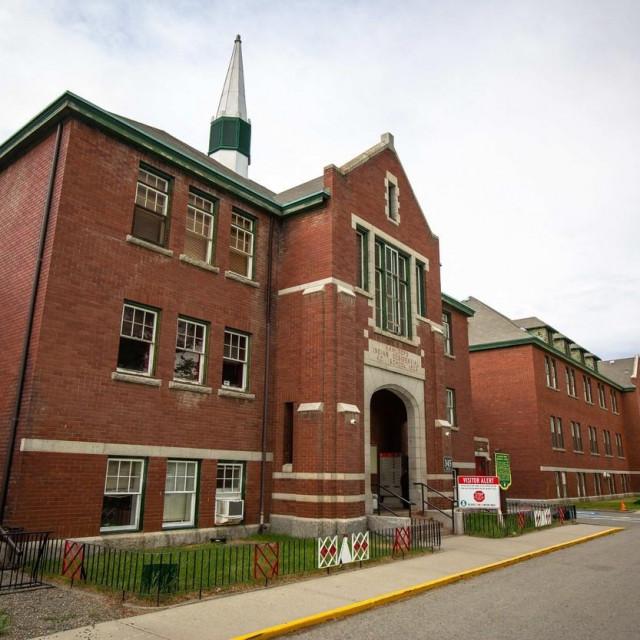 Nekadašnja škola pored koje su pronađeni posmrtni ostaci djece
