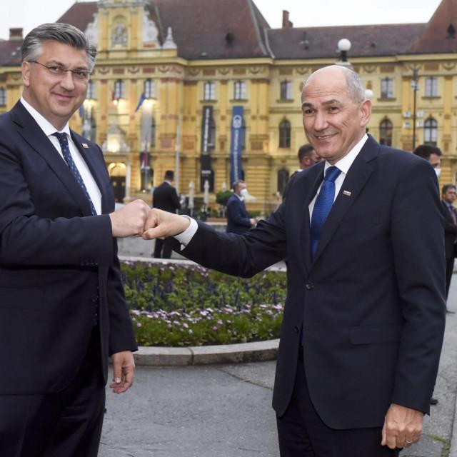 Andrej Plenković i Janez Janša