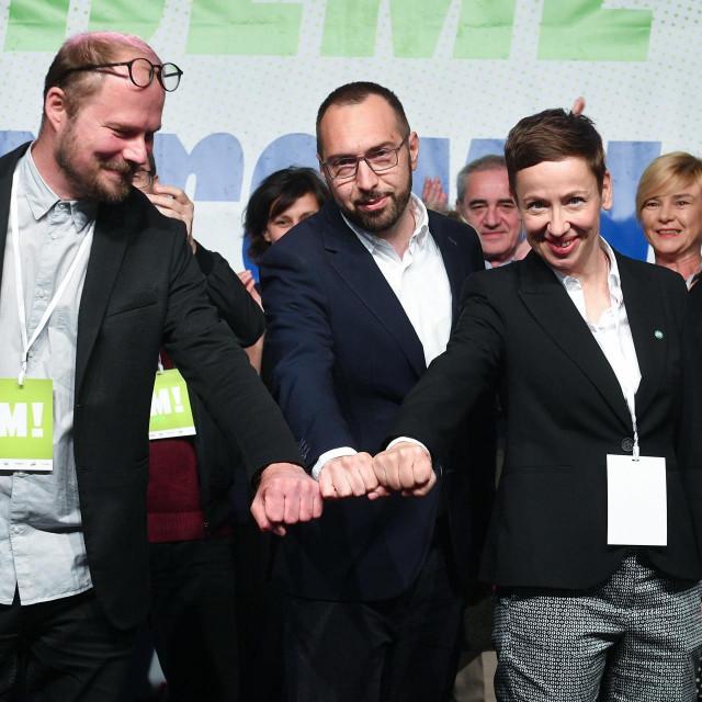 Luka Korlaet, Tomislav Tomašević i Danijela Dolenec