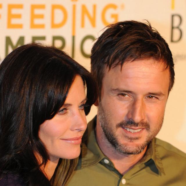 Courteney Cox i David Arquette, 2009.