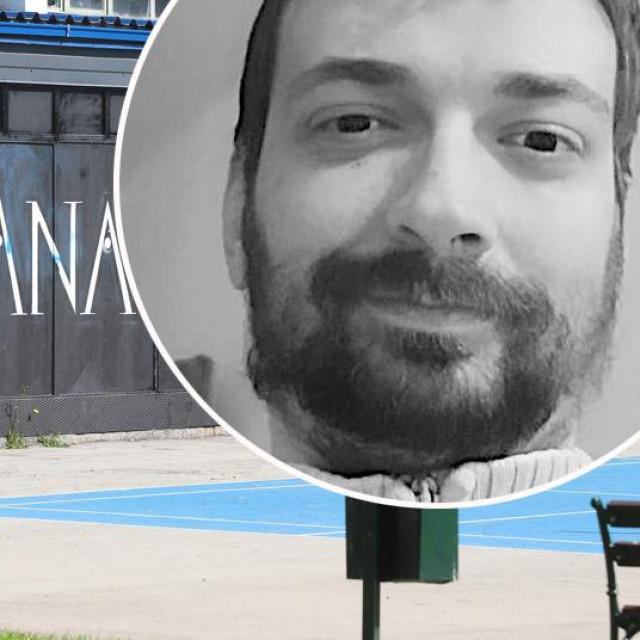 Kulturana, mjesto ispred kojeg je ubijenprofesor Nino Čengić (u krugu)