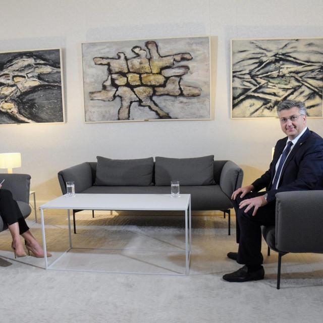 Damira Gregoret i Andrej Plenković