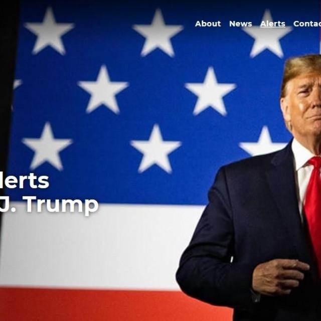 Naslovna strana Trumpova bloga