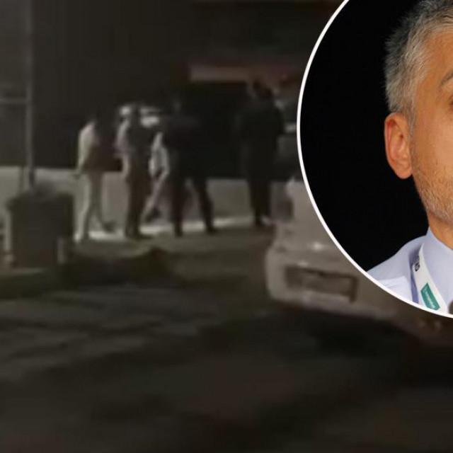 Prizor ispred kioska brze hrane u kojem je došlo do incidenta i Čedomir Jovanović