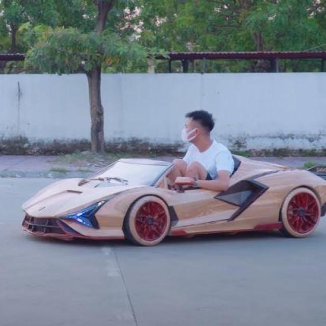 Drveni Lamborghini Sian