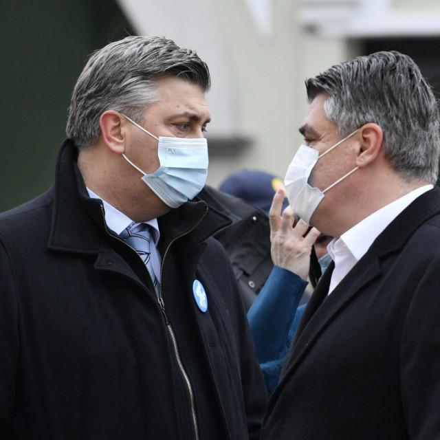 Andrej Plenković i Zoran Milanović