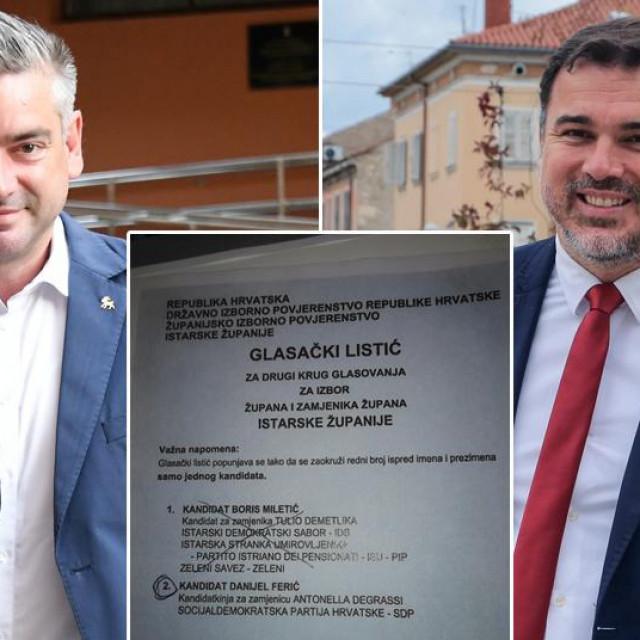 Boris Miletić i Danijel Ferić te glasački listić za koji SDP-ovci tvrde da nije priznat kao valjan iako je, prema njima, trebao biti