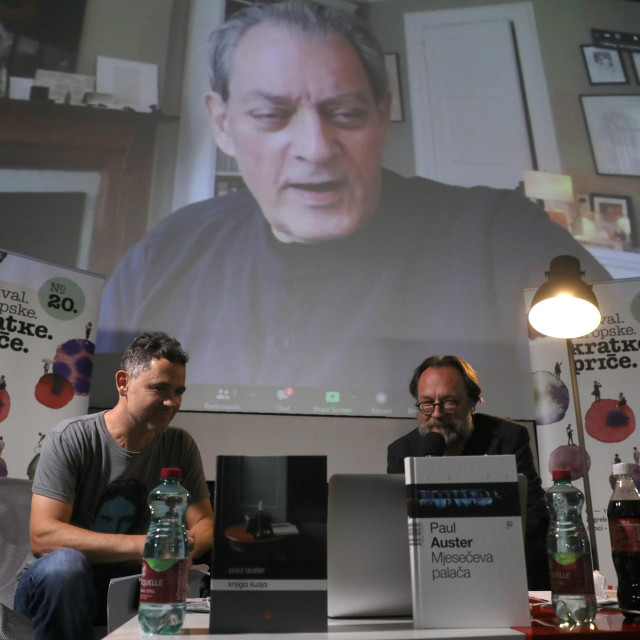S Paulom Austerom su preko Zooma razgovarali Tomislav Brlek i Roman Simić<br />