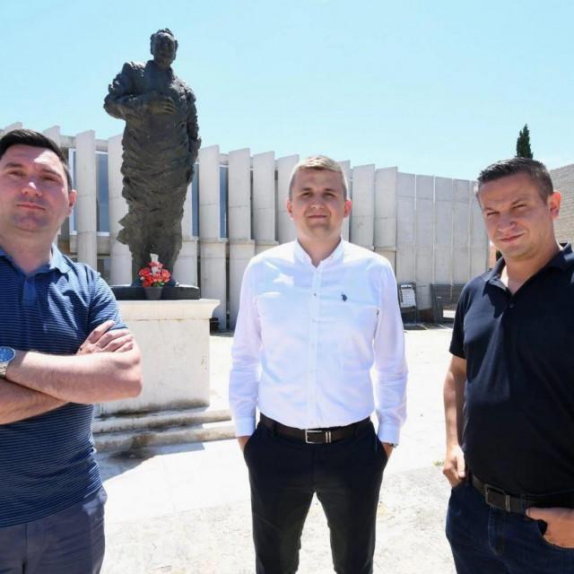 S lijeva na desno: Ivica Žilić, Ante Škara i Ivan Dražina