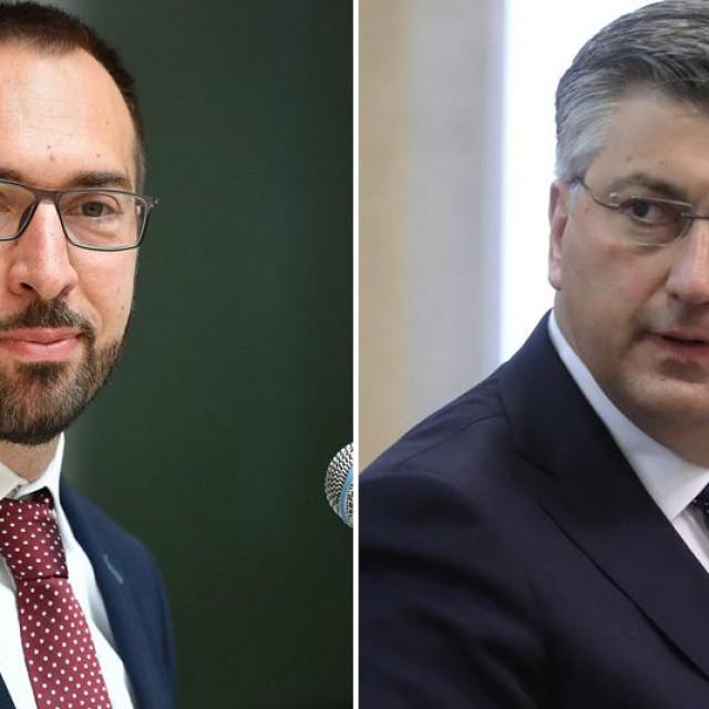 Tomislav Tomašević i Andrej Plenković
