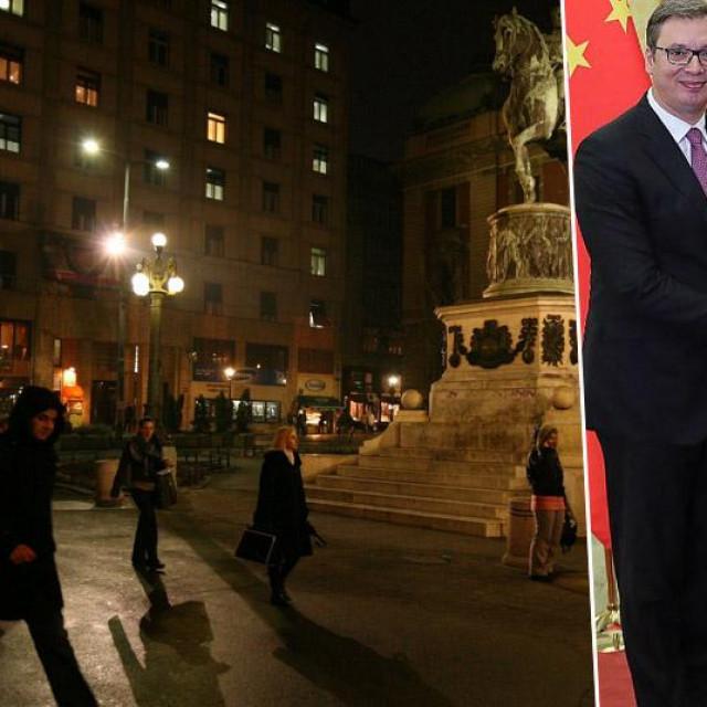 Trg Republike u Beogradu, Aleksandar Vučić i Xi Jinping