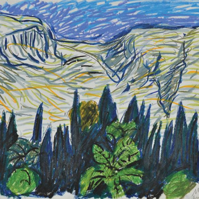 Edo Murtić: Mediteranski pejzaž, 1987.