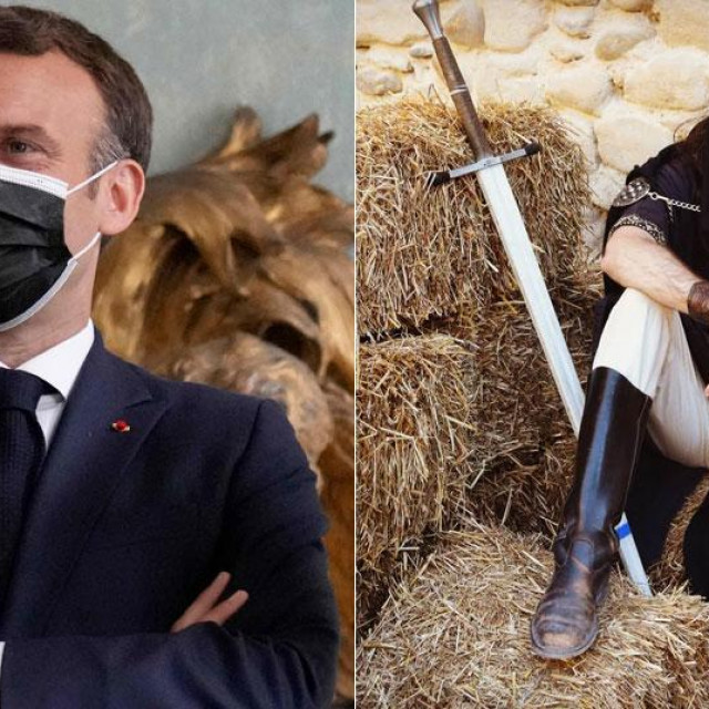 Emmanuel Macron i Damien Tarel