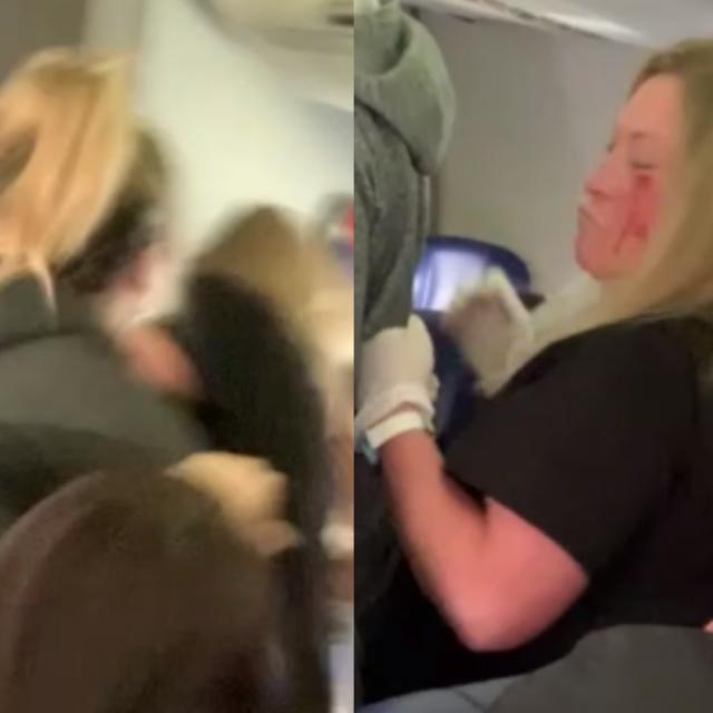 Amerikanka izudarala stjuardesu na letu