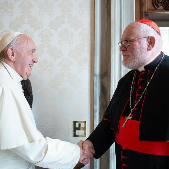 Papa Franjo i kardinal Reinhard Marx (arhivska fotografija)