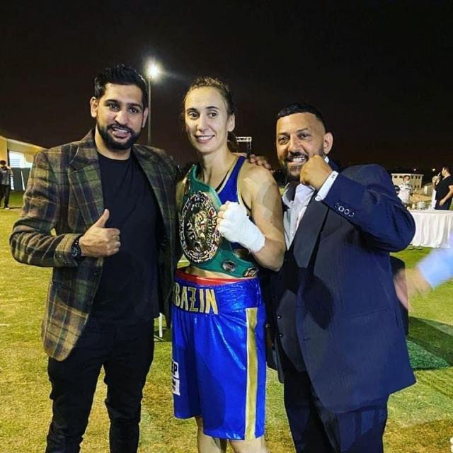 Amir Khan, Ivana Habazin i Naseem Hamed