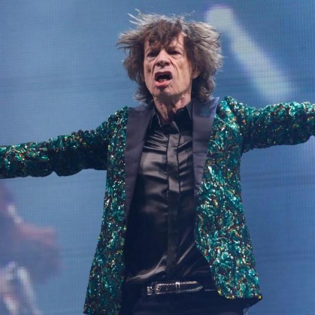Mick Jagger na Glastonbury festivalu 2013.