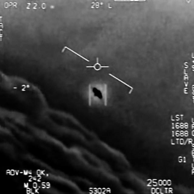 Fotografija koju su snimili piloti američke ratne mornarice s kojom je sada upoznata i javnost