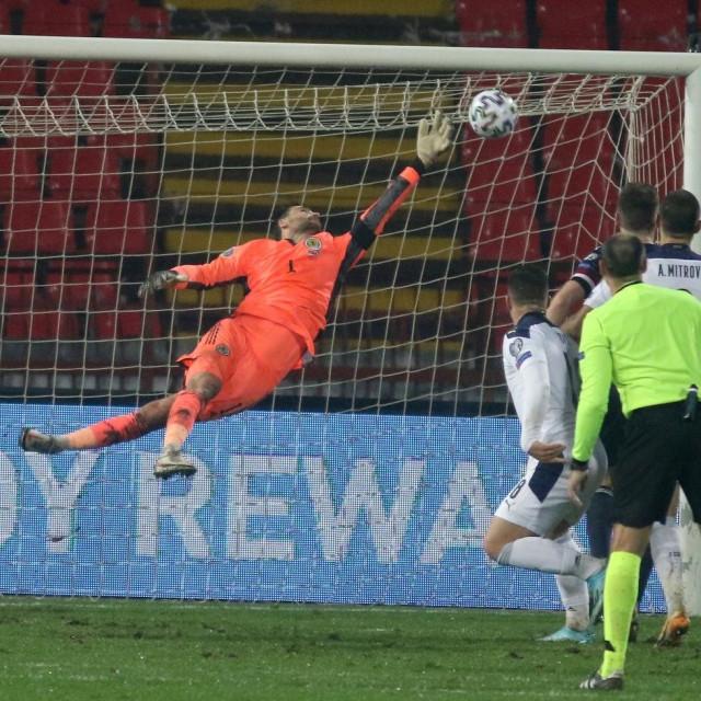 David Marshall sjajno je branio u dodatnim kvalifikacijama protiv Srbije