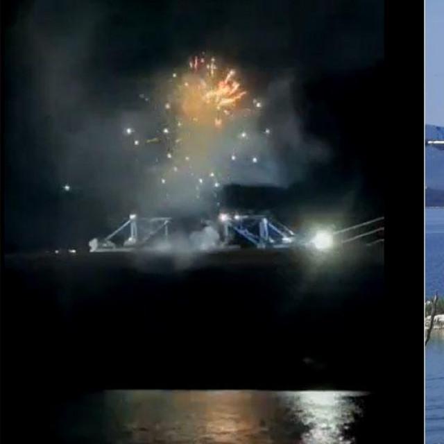Vatromet na Pelješkom mostu