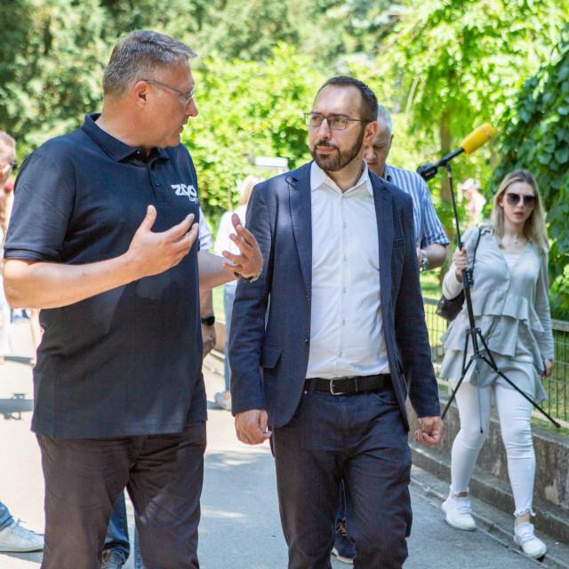 Tomašević i ravnatelj Skok