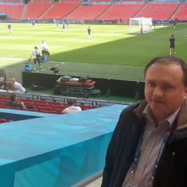 Trening Hrvatske na Wembleyu