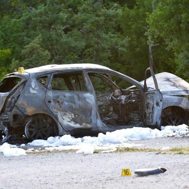 Nesreća na Istarskom ipsilonu.<br /> Snimio Danilo Memedović, Glas Istre