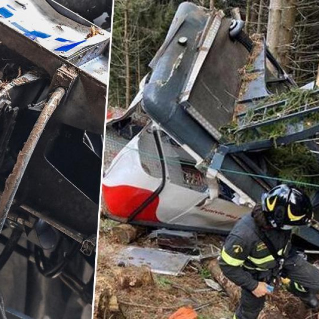 Prizor s mjesta nesreće i 'vilica' koja deaktivira sigurnosnu kočnicu