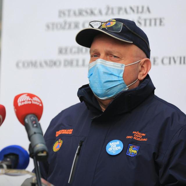 Načelnik istarsgko Stožera Dino Kozlevac<br />