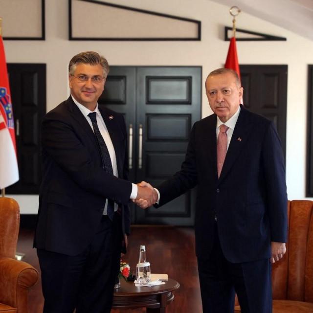 Andrej Plenković i Recep Tayyip Erdogan